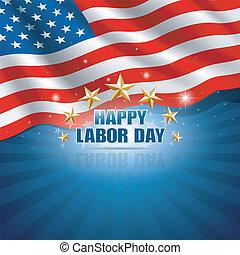 backgroun, américain, jour, main-d'œuvre