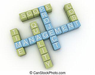 backgroun, concept, mot, image, gestion projet, questions,...