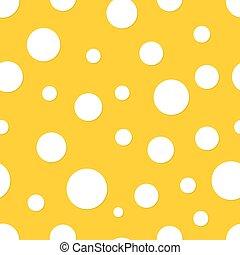 backgroun, kropka, polka, seamless, żółty
