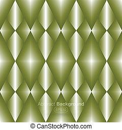 backgroun, métal, vert, diamants