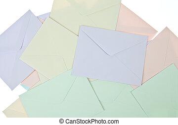Backgroun of Colorful Envelops