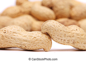 Backgroun of the two peanuts