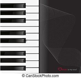 backgroun, piano, pretas, teclado