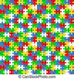 backgroun, puzzle, seamless