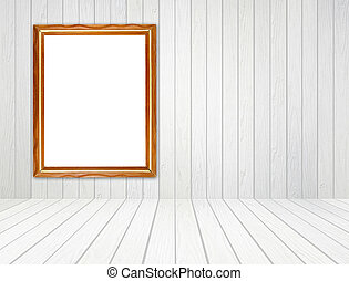 backgroun, sala, chão, frame parede, madeira, branca