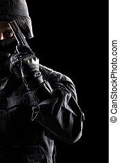 backgroun, soldat, noir, spec, ops