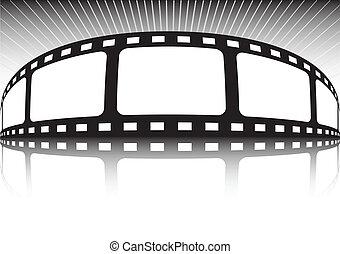 backgroun, vettore, vario, striscia cinematografica