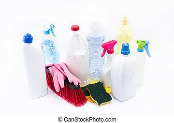 background., белый, продукты, isolated, уборка