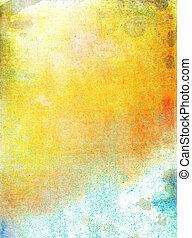background:, 抽象的, パターン, 黄色, 赤, textured, 白, 背景, 青