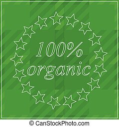 Background 100 % organic