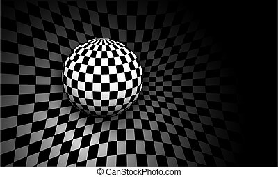 Background 3d black and white