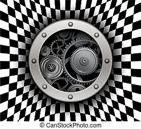 Background 3D with machinery gears