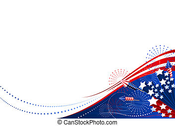 Background 4th of July horizontal. File includes clipping path.