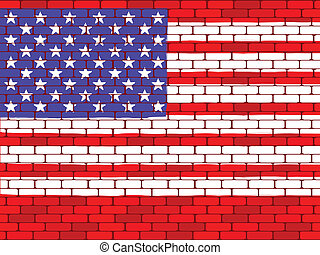 Background a flag of the USA