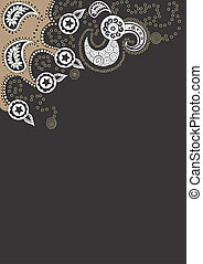 Background - A vector illustration of a decorative...