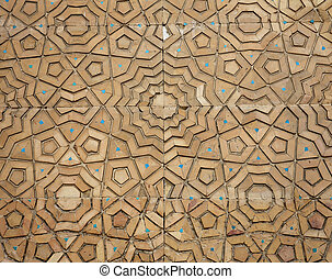 Background about oriental asian wooden ornament