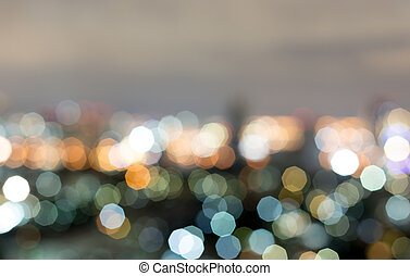 Background abstract bokeh city lights