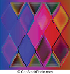 Background abstract colorful cubes