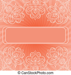 Background, abstract flowers