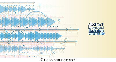 Background abstract geometric multicolored of arrows bands laps ovals crosses and lines vector