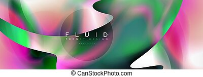 Background abstract holographic fluid colors wave design,...