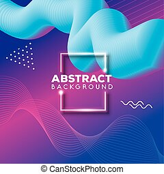 background abstract of waves flow vibrant color vector ...
