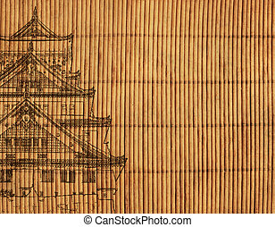 Japanese reed mat - Background - an ancient Japanese reed...