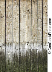 Background and spoiled rotten wood, old wood detail in the city
