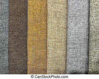 Background and texture of multi-colored fabrics