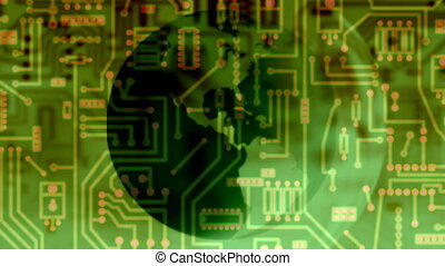 circuit board - global - Background Animation - Art supplies...
