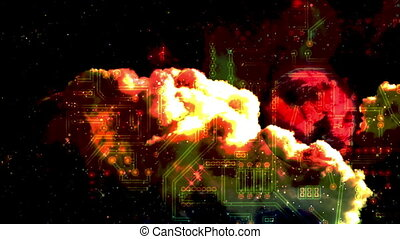 circuit board - space - Background Animation - Art supplies...
