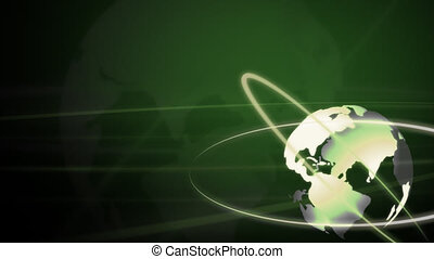 Background Animation - Globe in Green