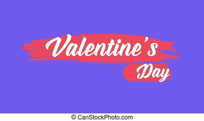 Background animation of greeting Valentine day