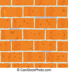 Background as wall of red bricks