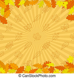 Background, autumn leaves