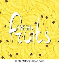 Background banana bunch