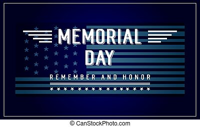 Background banner memorial day collection