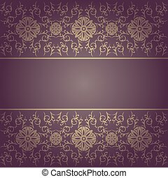 Background baroque floral vector