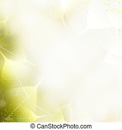Background - beautiful nature border with leaves - Art...