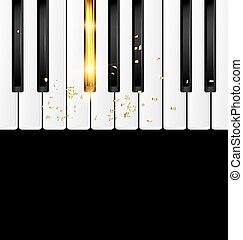 background black and golden keys