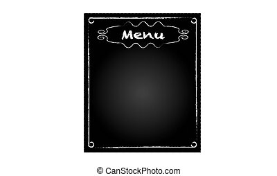 Background black blackboard with word of restaurant menu