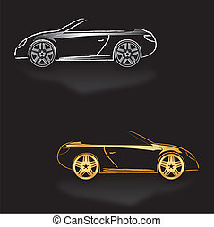Background black cars Roadster