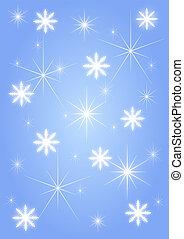 Background blue snowflakes