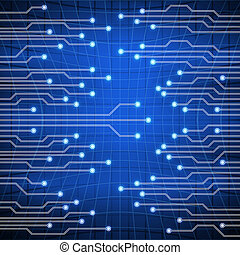 Background blue with electroschemes . The abstract image of electrical circuits used in various devices