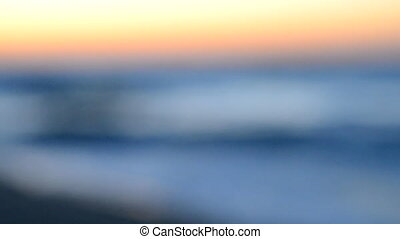 background blur sea ocean waves