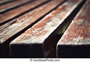 Blurred detail of a wooden table