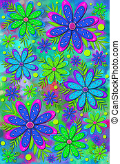 Background Brilliant Flowers - Mod and fun scrapbooking...