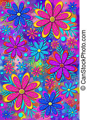 Background Brilliant Flowers Pinks - Mod and fun...