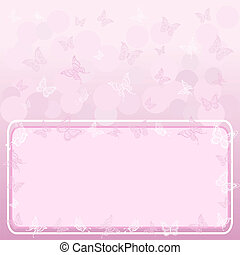Background, butterflies and frame