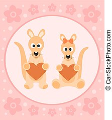 Background card with kangaroo